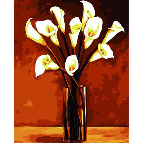 Acrylic Calla Lilies- DIY Painting By Numbers Kit