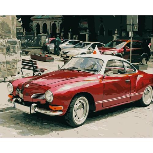 Vintage Red Car - DIY Painting By Numbers Kit