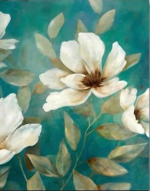 Flower Art Beige - DIY Painting By Numbers Kit