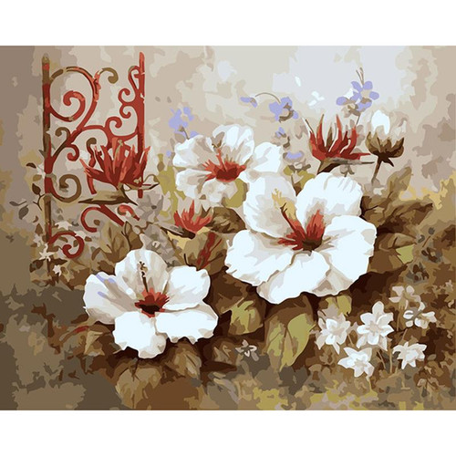 Acrylic Flowers Paintings - DIY Painting By Numbers Kit