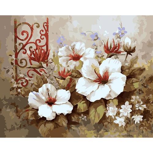 Acrylic Flowers Paintings - DIY Painting By Numbers Kit