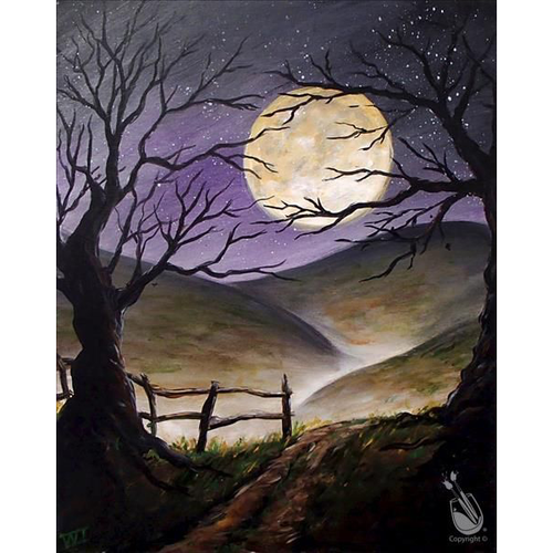 Frightening Mountains - Halloween 5D DIY Paint By Number Kit