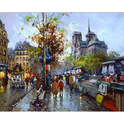 Antoine Blanchard Notre Dame - DIY Painting By Numbers Kit