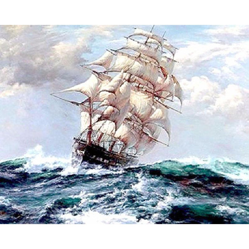Ship In The Storm - DIY Painting By Numbers Kit