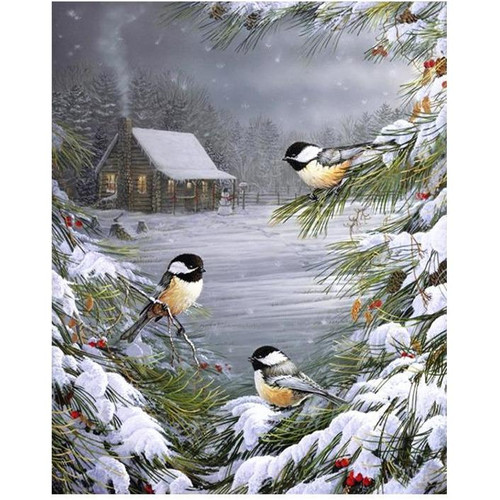 Three Sparrows - DIY Painting By Numbers Kit