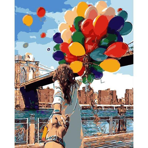 Couple Holding Hands Balloons - DIY Painting By Numbers Kits