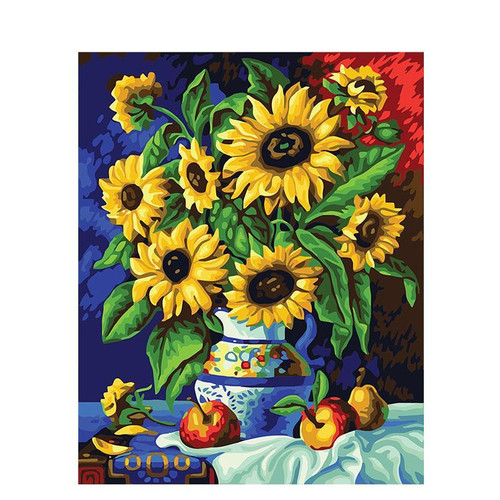 Sunflowers In A Pot - DIY Painting By Numbers Kit