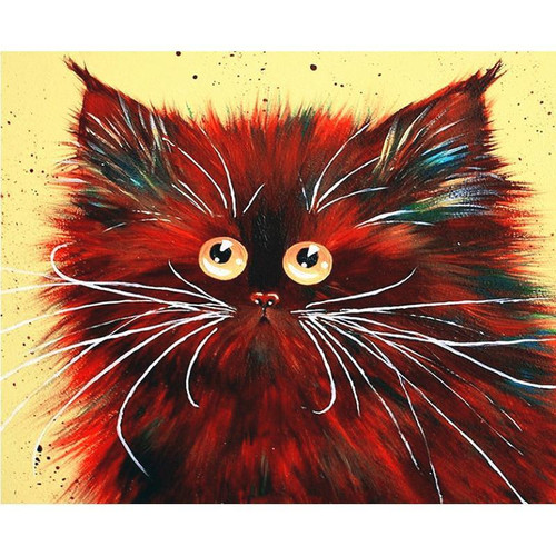 Red Cat - DIY Painting By Numbers Kits