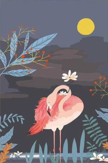 Flamingo Garden - DIY Painting By Numbers Kit