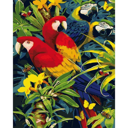 Incredible Parrots - DIY Painting By Numbers Kit