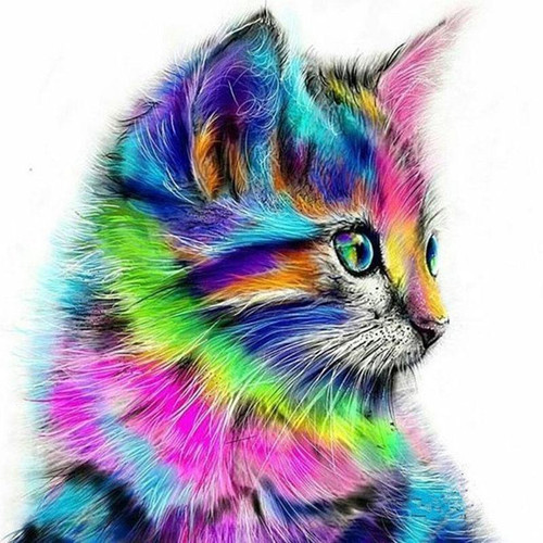 Cute Colorful Cat - DIY Painting By Numbers Kits