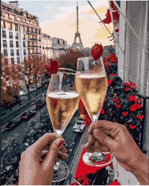 Paris Trip - DIY Painting By Numbers Kit