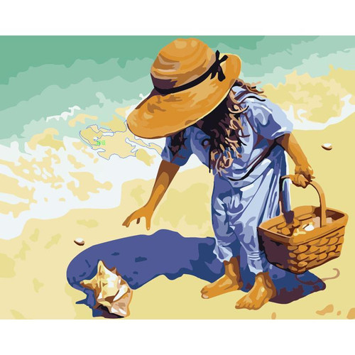 Child on a Beach - DIY Painting By Numbers Kits