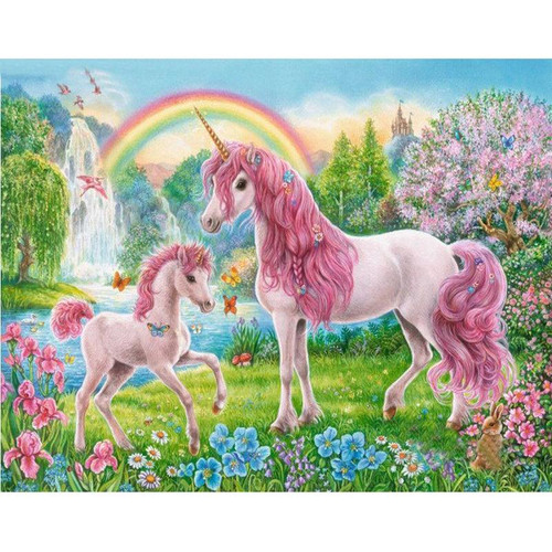 Delightful Unicorns - DIY Painting By Numbers Kit