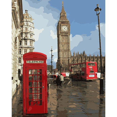 Telephone In London - DIY Painting By Numbers Kit