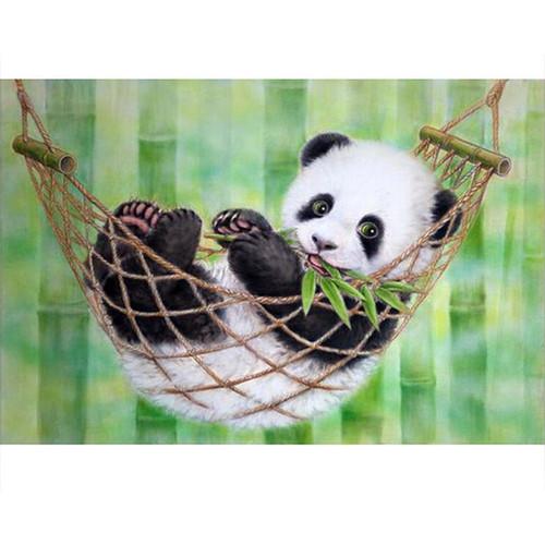 Baby Panda In Hammock - DIY Painting By Numbers Kit