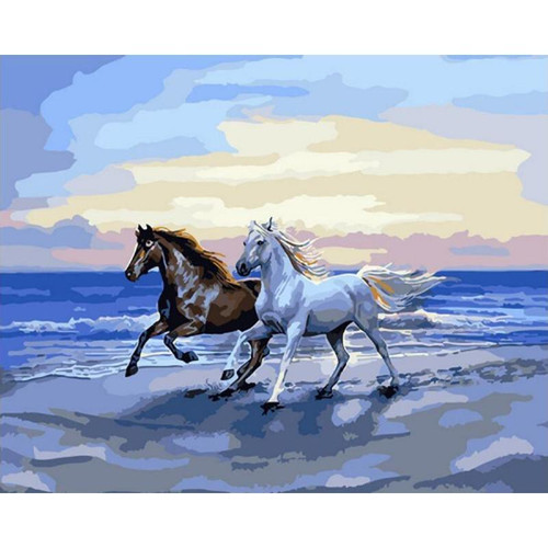 Horses on the Beach - DIY Painting By Numbers Kits