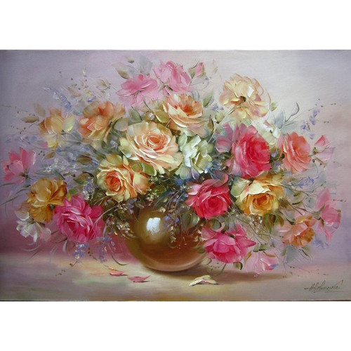 Beauteous Flowers - DIY Painting By Numbers Kit