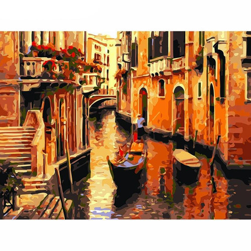 Town River - DIY Painting By Numbers Kit