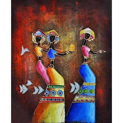 Tribal Dance - DIY Painting By Numbers Kit