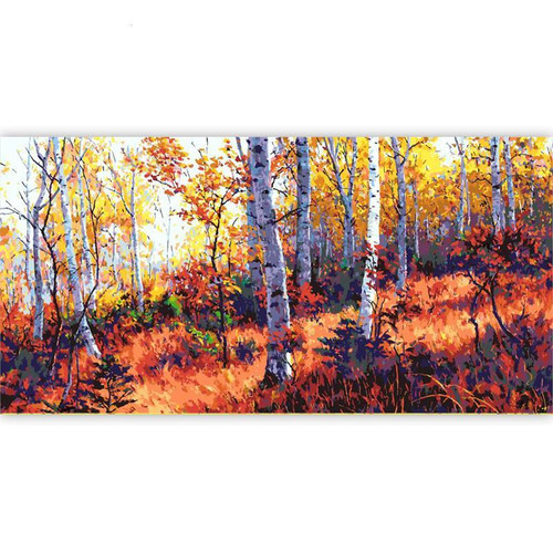 Red Forest - DIY Painting By Numbers Kit