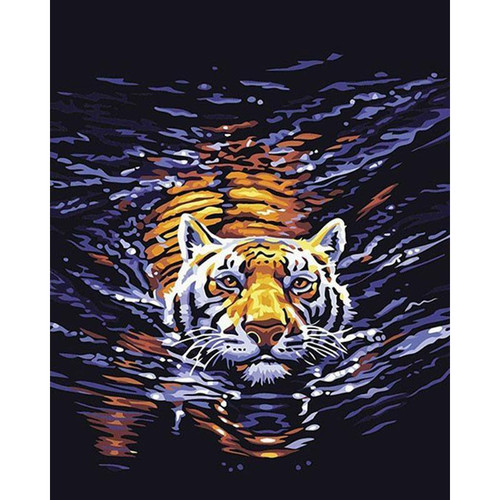 Swimming Tiger- DIY Painting By Numbers Kit