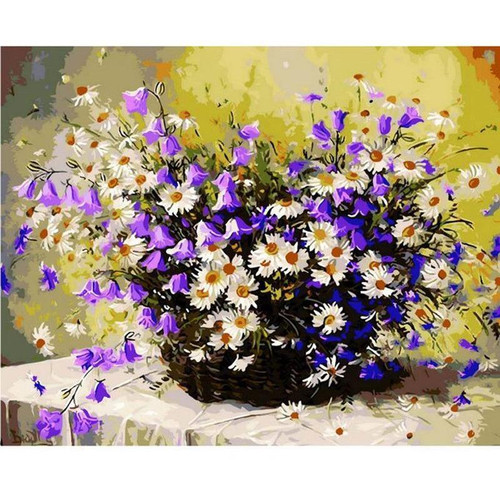Basket Full of Flowers - DIY Painting By Numbers Kits