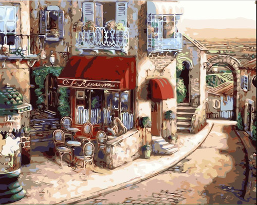 Cafe In Italy - DIY Painting By Numbers Kit