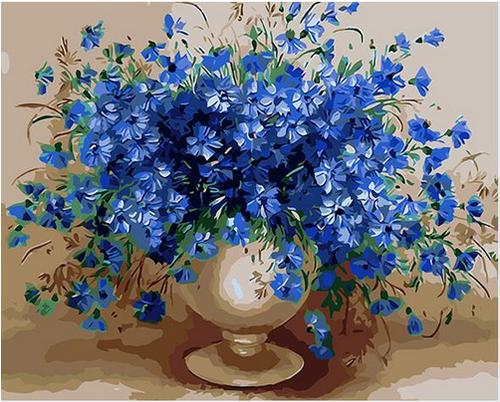 Violet Flowers - DIY Painting By Numbers Kit