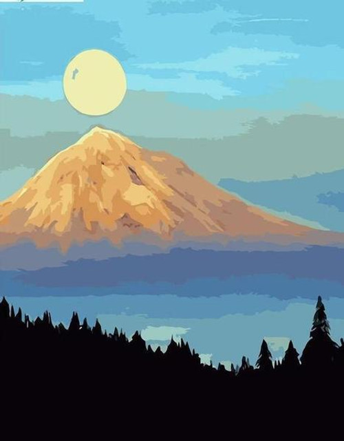 Yellow Mountain - DIY Painting By Numbers Kit