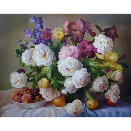 Flowers and Fruits - DIY Painting By Numbers Kits