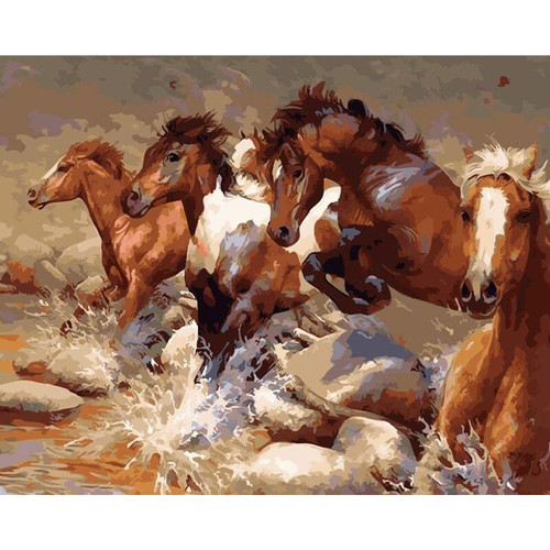Wild Horses - DIY Painting By Numbers Kit