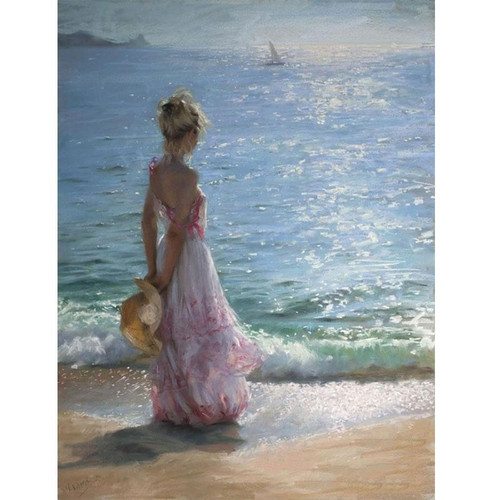 Woman At the Beach - DIY Painting By Numbers Kit