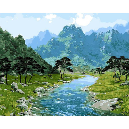 Forest River - DIY Painting By Numbers Kit
