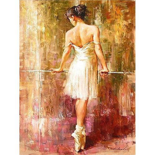 Ballerina Practicing - DIY Painting By Numbers Kit