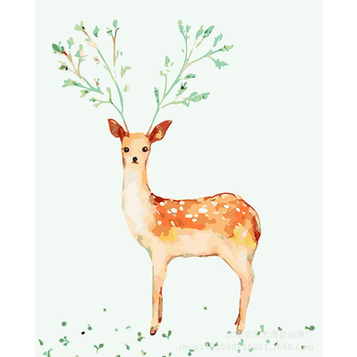 Deer With Nature Antler - DIY Painting By Numbers Kits