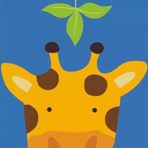 Peek-a-Boo Giraffe - DIY Painting By Numbers Kit