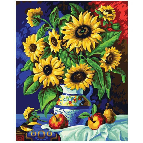 Bright and Colorful Flowers - DIY Painting By Numbers Kit