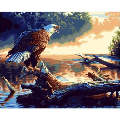 Eagle Screeching - DIY Painting By Numbers Kit