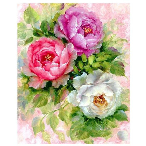 Three Roses - DIY Painting By Numbers Kit