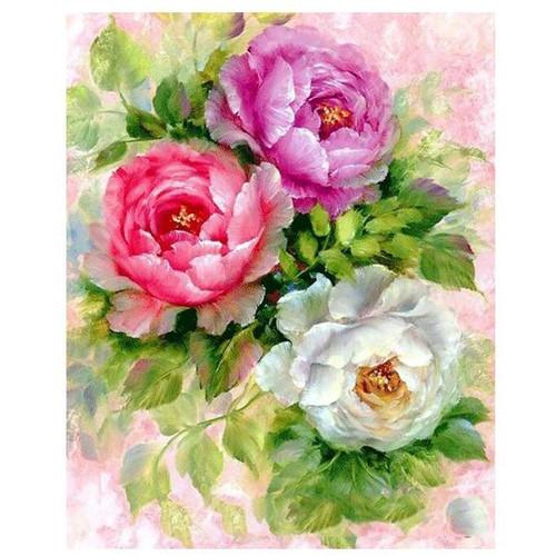 Three Roses - DIY Painting By Numbers Kit