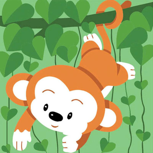 Playful Monkey - DIY Painting By Numbers Kit