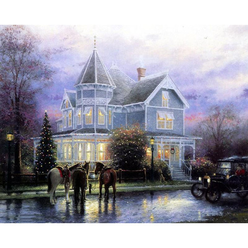 A Home For Christmas - DIY Painting By Numbers Kit