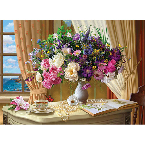 Flower Still Life Near the Window - DIY Paint By Number Kit