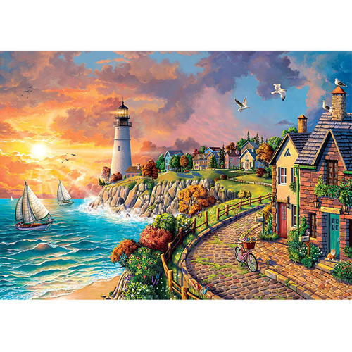 Lighthouse by the Sea - DIY Paint By Number Kit