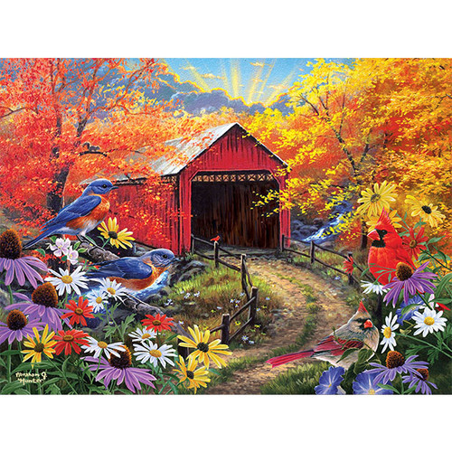 Bluebird Bridge - DIY Painting By Numbers Kit