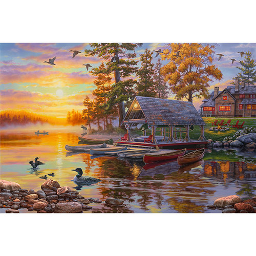 Canoe Camp Buffalo - DIY Painting By Numbers Kit