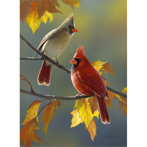 Golden Morning Cardinals - DIY Painting By Numbers Kit