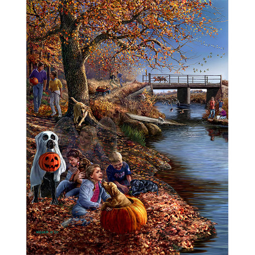 Places Remembered Fall - DIY Painting By Numbers Kit