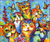 Bunch Of Laughing Cats - DIY Painting By Numbers Kit